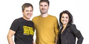 Frédéric Desmoulins (CEO), Nicolas Antoniazzi (CTO) et Aude Barral (CMO), les cofondateurs de CodinGame