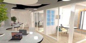 Les espaces des futurs locaux de Webqam ont été pensés pour conjuguer confort et efficacité.