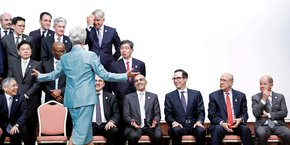La réunion des ministres des Finances et gouverneurs de banques centrales du G20 à Fukuoka (Japon), en juin 2019. La photo parle d'elle-même.