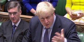 Boris Johnson, à la Chambre des Lords, le parlement britannique.