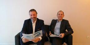 De gauche à droite : le président de l'Ademe Arnaud Leroy et le directeur général délégué Fabrice Boissier.