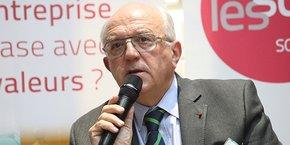 Hugues Sibille, président du Labo de l'ESS, lors des 4e Rencontres de l'innovation sociale à Montpellier, le 19 novembre 2019.