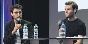 Quentin Franque et Benoît Zante, lors de la présentation de leur livre.