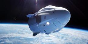 Dragon est un vaisseau spatial, conçu pour livrer à la fois du fret et des personnes vers l'ISS.