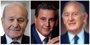 Issad Rebrab, Aziz Akhannouch et Othman Benjelloun.