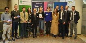 Le jury et les lauréats de la sélection 2020 de 10.000 startups pour changer le monde à Bordeaux.