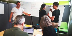 Des Elociens en formation au centre AFPA de Balma, près de Toulouse.