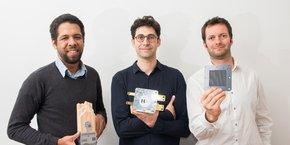 De gauche à droite, Alain Fontaine, Ludovic Barbès et Romain Di Costanzo, les fondateurs de la jeune pousse Hycco.