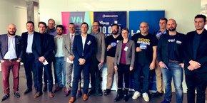 le jury et les lauréats de l'étape strasbourgeoise de 10000 startups pour changer le monde.