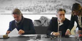 Olivier et Laurent Nicollin ont signé, le 13 février, l'acquisition de 16 % du groupe pour le compte de la holding familale