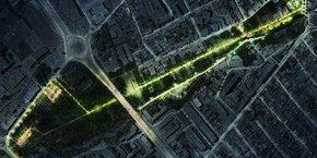 Le futur parc urbain s'étendra sur plus de 14 ha