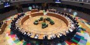 Réunion du Conseil européen.