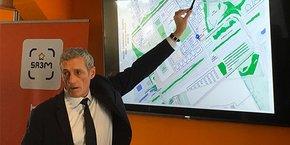 Philippe Saurel, président de Montpellier Méditerranée Métropole, lors de la signature du compromis de vente du terrain pour le futur campus MBS sur le quartier Cambacérès.