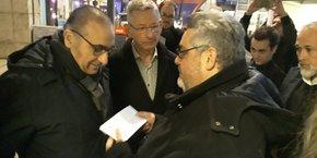 Olivier Bianchi est venu accueillir Laurent Nunez, Secrétaire d'État auprès du ministre de l'Intérieur et soutien d'Eric Faidy
