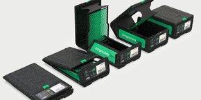 Testée par Orange et Cdiscount, THE BOX, conçue à partir d'une mousse de particules de polypropylène expansé, constituée à 98% d'air, l'emballage est pliable, léger, robuste et réutilisable 1000 fois, selon le fabricant.