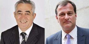 Jean-Marc Pujol et Louis Aliot s'affronteront au 2nd tour des municipales de Perpignan, le 28 juin prochain.
