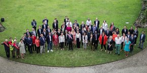 Le conseil municipal de Bordeaux, photographié le 3 juillet 2020.