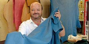 Jean-Christophe Muller, directeur général des Tanneries Haas à Mittelbergheim (Bas-Rhin)