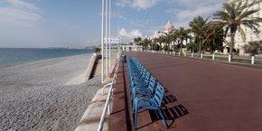 La Promenade des Anglais, à Nice, pendant le confinement.
