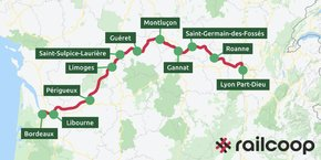Railcoop a besoin de cinq millions d'euros pour exploiter la ligne ferroviaire entre Bordeaux et Lyon.
