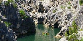 Une clientèle nouvelle, française majoritairement, et en quête de nature a afflué sur les sites naturels de l'Occitanie  (photo : les gorges de la haute vallée de l'Hérault).