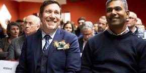 David Butet (à gauche), président du Medef Côte-d'Or : J'ai remarqué une notion qui n'existait pas avant la crise : la solidarité territoriale. Les chefs d'entreprise préfèrent traiter avec une entreprise à côté de chez elle. C'est aussi cela l'âme d'un territoire !
