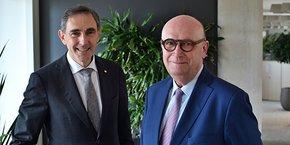 Christian Rouchon, directeur général, et Jacques Boyer, président du Crédit Agricole du Languedoc.