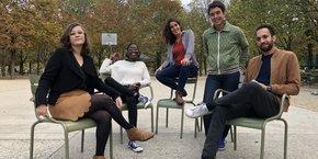 L'équipe du nouveau projet de Marie Ekeland (4è en partant de la gauche), intitulé 2050.