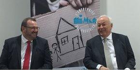 Alain Mérieux (à droite) avait voulu s'engager à rapprocher entreprises et association dès la fin janvier 2019 sous l'égide de l'Entreprise des Possibles. Un projet dont les besoins sont confirmés par la crise sanitaire actuelle.
