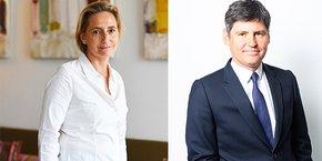 Béatrice Mortier, nouvelle directrice régionale d'Icade Promotion à Montpellier, et Emmanuel Desmaizières, directeur général d'Icade Promotion.