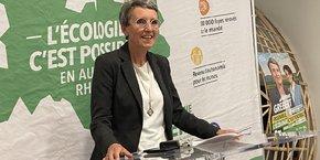 L'écologiste Fabienne Grébert, encore inconnue il y a quelques mois, s'est positionnée dès hier soir comme la future leader de l'opposition régionale.