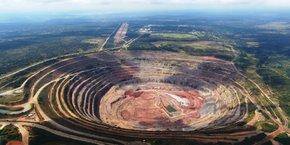 La mine de diamants de Catoca en Angola.