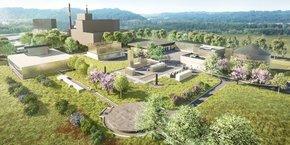 Vue du projet de la future station d'épuration Cap Ecologia dessinée par Camborde Architectes.