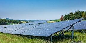 La centrale photovoltaïque de Fanjeaux (Aude) développée par Engie Green.