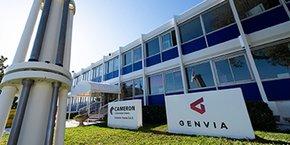Sur le site de Cameron à Béziers, l'un des quinze bâtiments de briques a été transformé et adapté, et une trentaine de salariés de Cameron ont été mis à disposition de Genvia pour faire tourner l'atelier-pilote.