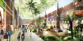 Plan d'architecte du projet de centre commercial Val Tolosa.