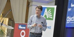 Laurent Alexandre au Sommet économique du Grand Sud à Bordeaux, mardi 26 mai 2015.
