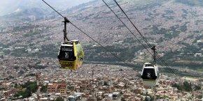 Le téléphérique de Medellín.