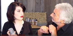 Le célèbre coiffeur Franck Provost a récemment noué plusieurs partenariats avec des youtubeuses beauté françaises influentes, comme ici Allison de la chaîne Allyfantaisies.