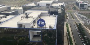 Le siège de Reliance Jio à Bombay.