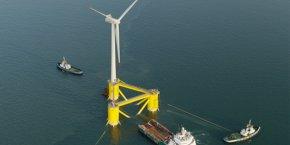 Le projet de ferme-pilote « Les éoliennes flottantes du golfe du Lion », porté par ENGIE, EDP Renewables, Caisse des Dépôts et Eiffage, installera 4 éoliennes de 6 MW au large de Leucate, dans l'Aude.