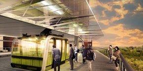 Le futur téléphérique urbain de Toulouse est en train de sortir de terre.