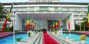 L'entrée de l'Assemblée nationale sénégalaise