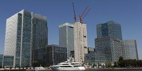 Londres (ici le quartier financier de Canary Wharf) risque de perdre d'importantes recettes fiscales avec le transfert de salariés à hauts revenus vers l'Europe.