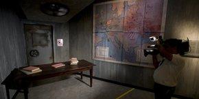 Une reconstitution du bunker d'Hitler au musée Madame Tussauds de Berlin.