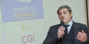 Olivier Foix, vice-président de CGI France et directeur de la région Aquitaine, qui figure dans le Top 3 du Palmarès 2017 des entreprises qui recrutent à Bordeaux et dans sa métropole, publié en janvier par La Tribune