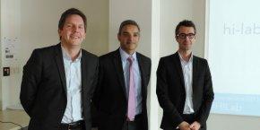 Olivier Geoffroy, Atul Pathak et Dominique Pon, membres du Hi-Lab