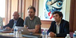 De g. à d.: Philippe Augé, Patrick Lemaire et Gilles Halbout
