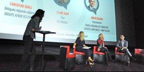 Valérie Brugues (Face Hérault), animatrice de la 1e table-ronde, qui réunissait Clare Hart (CCI 34), Christine Sorli (Afnor) et Boris Ricard (Ordre des experts-comptables)