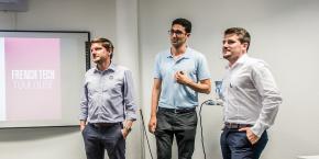 De gauche à droite : Bastien Ingweiller, Chérif Mili et Florent Guedea, lors du Toulouse Startup Partners #1 à la Cantine en juin 2017